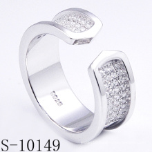 Personalized Micro Setting Zirconia 925 Silver Ring (S-10149)
