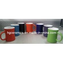 Inside White Outside Color Mug, Ceramic Mug