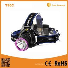 2X 18650 Rechargeable CREE Xm-L T6 LED Lampe frontale (POPPAS-T90C)