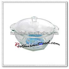 D210 Glasschale mit Doppelohren und Deckel