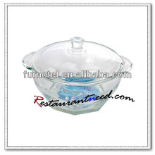 D210 Glass Bowl With Double Ears & Lid