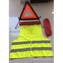 Warning Triangle Set with Safety Vest