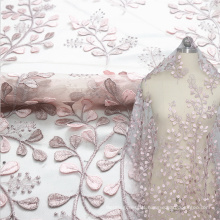 Light Pink layser Embroidery Lace Fabric