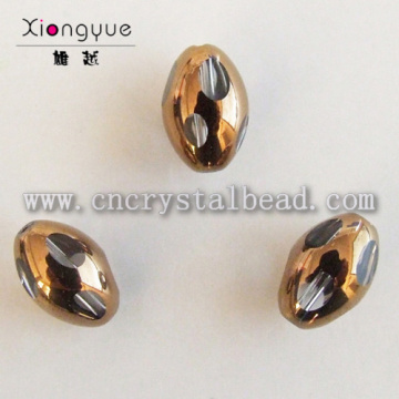 10mm color coated Oval Plated Bead