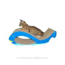 Eco-friendly Reciclável Natural Papelão Ondulado Papel Bulk Cat Scratcher Board Brinquedos China Suprimentos ACS-6015