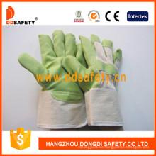Grüne PVC-Gartenhandschuhe mit weißem Baumwollrücken Dgp105