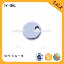 MC503 encanto en blanco de la etiqueta de la joyería de encargo para la pulsera del encanto, joyería de la manera Etiqueta de la caída en color de plata