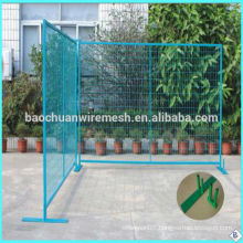 Blue powder coated canadian temporary security fence(factory sale and export)