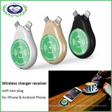 2 in 1 Qi Receiver und Transmitter für iPhone und Android Phone Wireless Receiver
