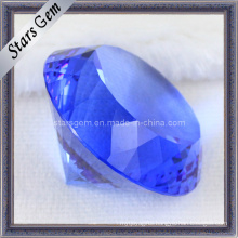 Diamond Shape Blue Shinning Crystal Glass
