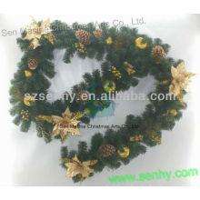 Guirnalda de Navidad artificial con cono de pino bola