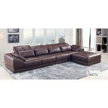 Coffee Color Modern Leather Sofa, Living Room Furniture (A-02)