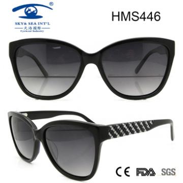 2016 Óculos de sol de acetato de venda quente (HMS446)