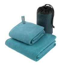 China factory custom logo microfiber sports towel gym towel with zipper pocket