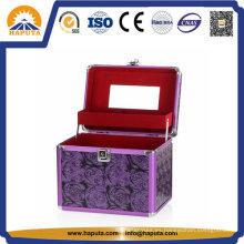 Estuche de belleza púrpura para almacenamiento de cosméticos (HB-2043)
