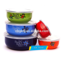 enamel mixing bowl & high quality & special decal