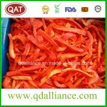 Tiras de pimiento rojo congeladas IQF con las normas de la FDA