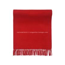 Écharpe en cachemire de laine de couleur pure