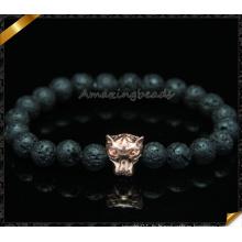 Bracelets de perles de perles naturelles de lave pour femmes (CB097)