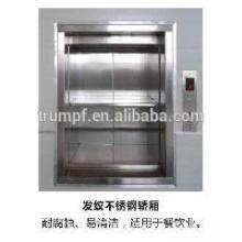2016 novo estilo de alimentos seguros e não ruído elevador dumbwaiter