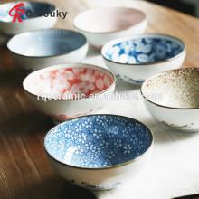 Schönes Abziehbild glasierte kundenspezifische keramische Schüssel