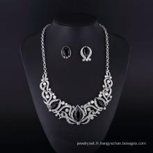 Ensemble de bijoux Collier Onyx Noir Imitation Fashion