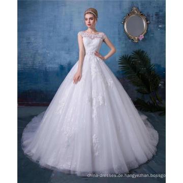 Weißes Brautkleid des Brautkleides vestido de novia 2018 China nach Maß