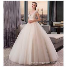 2017 princesa de alta calidad de cristal blanco rebordeado vestidos de novia vestido de novia 2017 de lujo