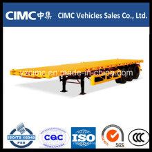 Cimc 3 Eixos 40FT Trailer Flatbed com Aço De Alta Tenção