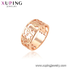 15440 xuping rose gold plated style flower animals shape ring gift for women