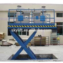 Elevador de tesoura para carga grande ajustável em altura