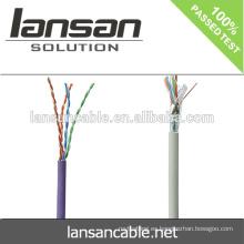Cable de la red del ftp 24awg cat5e del ftp de la alta calidad1000ft