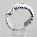 silicone alloy watch for men, stainless steel watches back