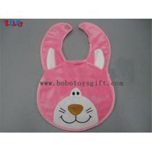 "13""Bandana Bibs Plush Pink Cat Baby Bibs"