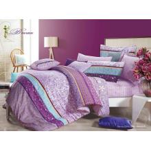 Hermoso cómodo 40s 128 * 68 pigmento impresión 100% algodón edredón de lujo conjunto