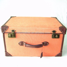 guangzhou manufacturer Canvas and Leather suitcase