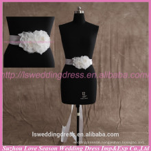 LB0004 Quality fabric best handmade High end flower shaped patels and organza fashion fabric popular wedding belt