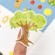 Regalos promocionales para niños Etiqueta autoadhesiva para niños Actividad personalizada para niños Vinilo Troquelado Pegatinas