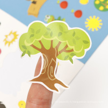 Autocollants décoratifs de bande dessinée d'enfants d'impression personnalisée faite sur commande promotionnelle