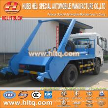 DONGFENG 4x2 10cbm 190hp schwingender Arm Müllwagen rollen ab Müllwagen Sanitär Fahrzeug besten Verkauf in China