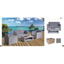 4-Sitzer PP Outdoor Sofa Set