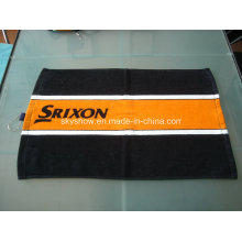 Toalla de golf impresa aduana 100% del algodón con el gancho (SST1508)