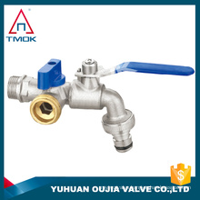 brass water bibcock parts motorize full port and Hpb 57-3 material with forged new bonnet nickel-plated brass ball valve one way