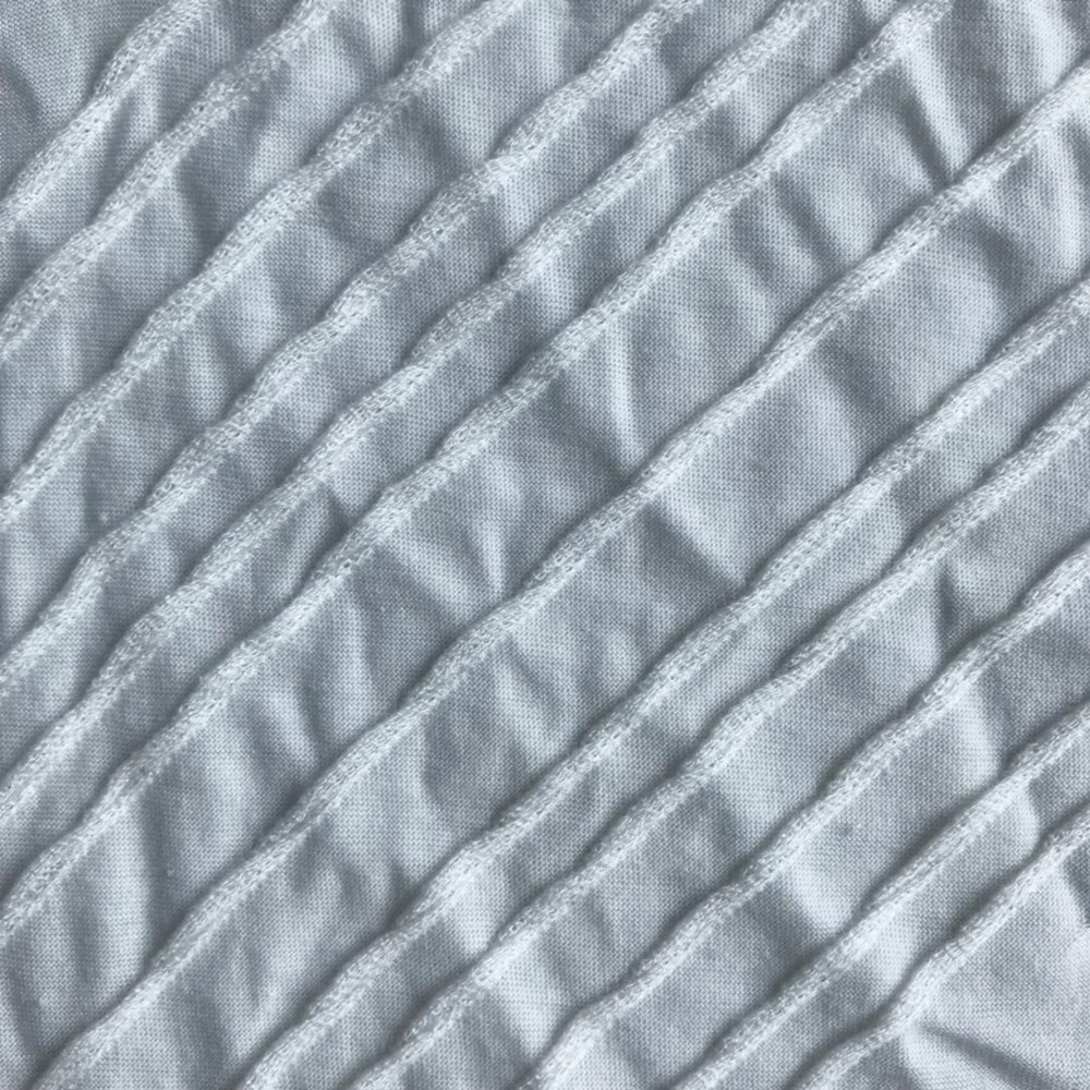 TR Polyester rayon wave Jacquard knitting garment fabric