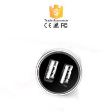 Chargeur de voiture USB personnalisé 2.1A Chargeur de voiture coloré Dual USB QC 2.0