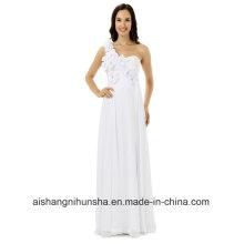 Vestido de dama de honra um ombro vestido de festa longo chiffon