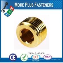 Hecho en Taiwán Cobre Socket o cuadrado encajado Taper presión tubería Plug