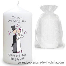 Vela perfumada del pilar de la soja para casarse