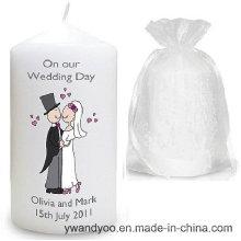 Bougie parfumée de pilier de soja pour le mariage