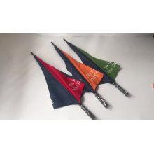 60 inch custom logo manual open blue and orange  golf umbrella